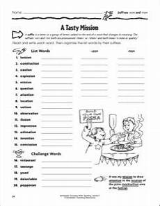 spelling worksheets tion sion 22559 a tasty mission suffixes sion and tion word sorts word activities suffix activities
