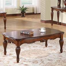 Cherry Living Room Tables dreena occasional living room coffee table carved solid