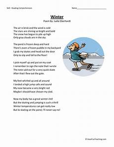 winter reading comprehension worksheets 3rd grade 20182 reading comprehension worksheet winter