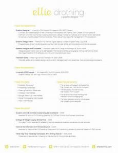 ellie drotning graphic designer really like the font of the heading resume cv ideas
