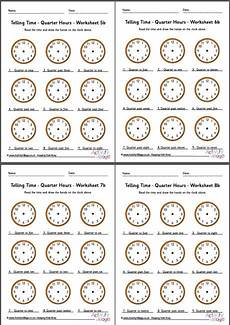 telling time worksheets quarter hours 2