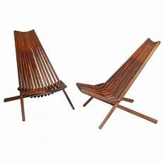 folding wooden lounge chairs at 1stdibs