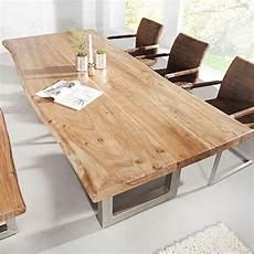 Esstisch Baumstamm Tisch Mammut Akazie Massivholz