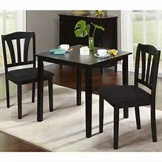 black dining set for 2 compact square table chairs kitchen apartment dorm room ebay
