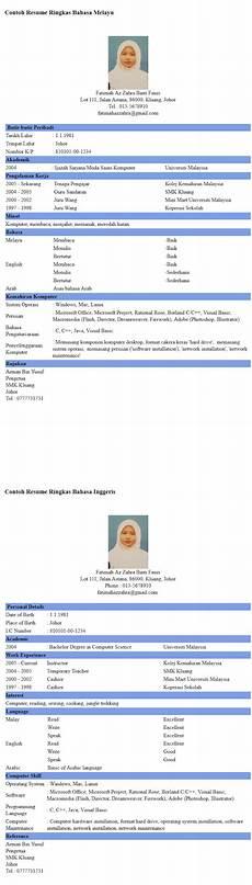 for contoh resume bahasa inggeris calendar 2015