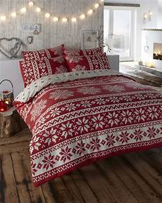 cosy christmas bedding alpine duvet cover double