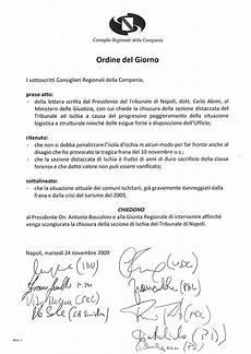 ordine giorno consiglio dei ministri emergenza tribunale ischia all odg consiglio regionale