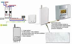 branchement thermostat chauffage electrique la pose du radiateur sodielec berger