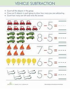 subtraction visual worksheets 10304 subtract five kindergarten math worksheets worksheets for preschool worksheets