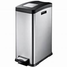 ogo poubelle rectangulaire 30 litres inox bross 233 10101
