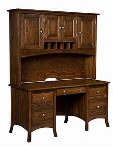 wood home office furniture amish executive computer desk hutch home office solid wood