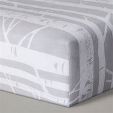 fitted crib sheet birch cloud island gray target