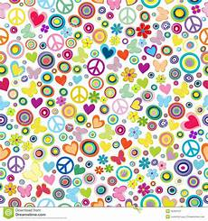 Flower Power Background Seamless Pattern With Flowers