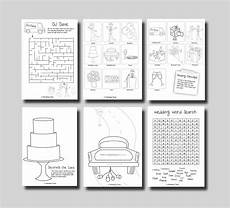kids activity book printable kids wedding activity book page 05 printable 360 degree