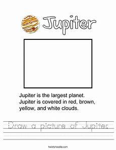 draw a picture of jupiter worksheet twisty noodle