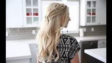 half up side braid diy cute hairstyles youtube