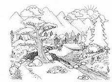 nature colouring pages to print 16387 free printable landscape coloring pages for adults at getcolorings free printable