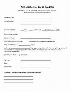 5 credit card authorization form templates formats exles in word excel