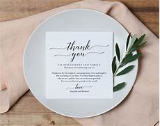 thank you place cards template wedding thank you card thank you printable wedding table