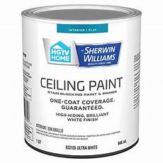 hgtv home by sherwin williams ceiling flat white latex
