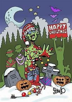 zombie christmas zombie christmas last minute halloween costumes funny christmas cards