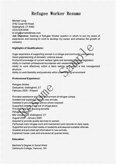 resume sles refugee worker resume sle