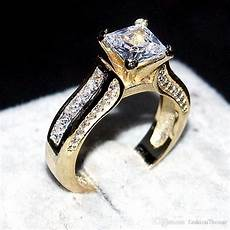 luxury 14kt yellow gold filled ring 2 in 1 wedding