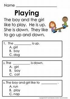 kindergarten reading comprehension passages questions guided reading level c stuff to try