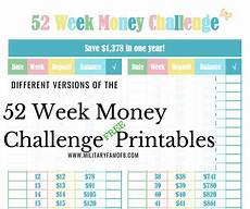 52 hands on activities for the every week of the year different versions of the 52 week money challenge