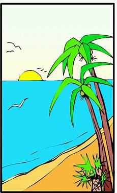 malvorlagen landschaften gratis und original palmen am meer ausmalbild malvorlage landschaften