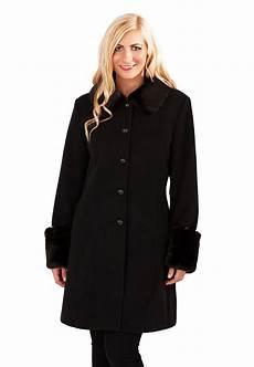 Womens Warm Winter Coat Faux Fur Cuffs Collar Woollen