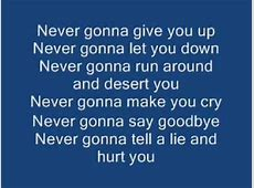 rick astley never give you up