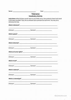 tolerance worksheet free esl printable worksheets made