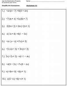 12 best images of 6th grade combining like terms worksheet simplifying expressions worksheets