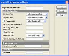 asp form registration and login