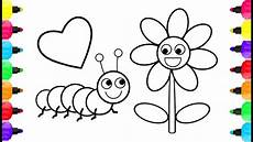 simple caterpillar coloring pages how to draw simple