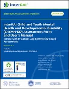 interrai child and youth mental health and developmental disability chymh dd assessment form