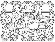Zootiere Malvorlagen Zoo Coloring Pages Printable Free By Stephen Joseph