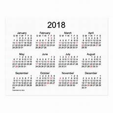 mini kalender 2018 2018 mini calendar by janz postcard zazzle