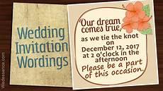 Informal Wedding Invitation informal wedding invitation wordings for an affectionate