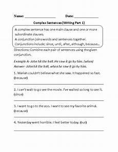 writing complex sentences worksheets 22137 complex sentences worksheet writing sentences worksheets complex sentences sentence writing