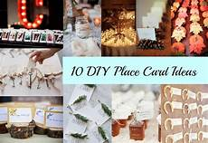10 diy place card ideas rustic wedding chic