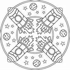 Ausmalbilder Sterne Und Planeten Kinder Mandalas Weltraum Planeten Raumschiffe Und