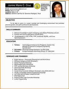 resume sle format in philippines valid 6 exle of