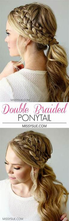cute braided ponytail styles popular haircuts