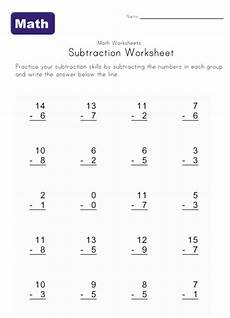 easy subtraction worksheets kids learning station