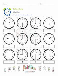 telling time half hour worksheet 5 telling time math worksheets clock worksheets