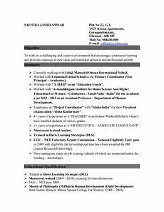 resume for the of a coordinator vice principal counsellor