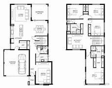 4 bedroom double storey house plans beautiful four bedroom double storey house plan new home