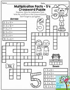 riddle worksheets for grade 5 10905 multiplication facts crossword puzzle third grade students this one it makes practicing